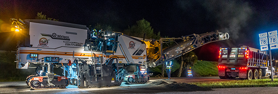 Our Wirtgen asphalt cold milling machine hard at work | South Florida Milling